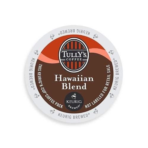 Tully's Coffee K-Cups, Hawaiian Blend, 24 Count (Pack of 4)