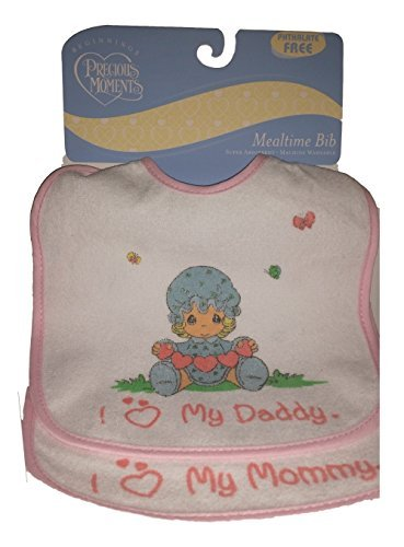 Bestselling Precious Moments Mealtime Baby Bib 2Ct. Bundle (Pink)