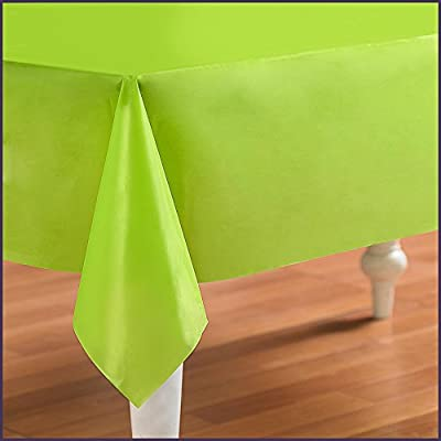 Creative Converting - Fresh Lime (Lime Green) Plastic Tablecover by Creative Converting
