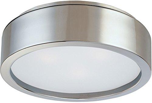 (Sonneman 3722.13, Puck Round Tall Flush Mount Ceiling Lighting, 3 Light, Satin Nickel)