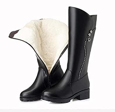 Amazon.com: Fumak Knee High Boots Women Genuine Leather