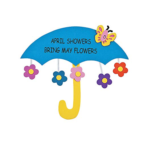 Fun Express - April Showers Sign Craft Kit for Spring - Craft Kits - Hanging Decor Craft Kits - Sign Decoration Craft Kits - Spring - 12 Pieces]()