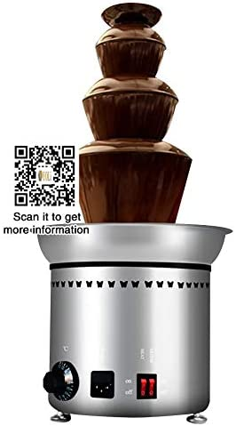 4 niveles parte Hotel comercial fuente de Chocolate Fondue de chocolate Máquina de fuente, Eléctrico Máquina cascada de chocolate, chocolate caliente olla pluma estilográfica máquina,: Amazon.es: Hogar