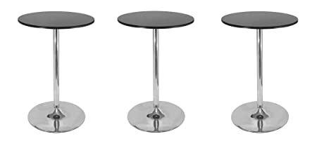 Winsome 93628 Spectrum Dining, Black Pack of 3