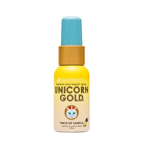 Spice Candle Golden Brick - 2 FL OZ. Squatty Potty Unicorn Gold Toilet Spray, Pinch Of Vanilla