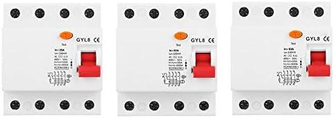 遮断器、GYL8漏電遮断器4P 400VAC安全回路保護遮断器(25A)
