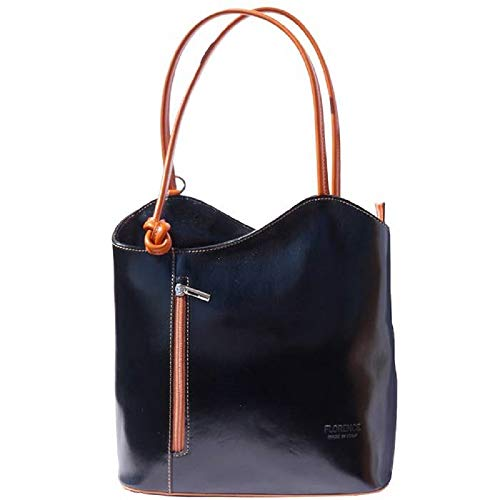 LaGaksta Easy Carry Backpack Purse Black Cognac ()