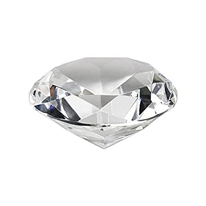 Amazon.com  Crystal Clear Faceted Diamond Shaped Paperweight Top ... fdbae3679482