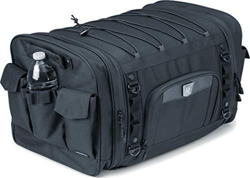 Trunk Tour Roll Bag (Kuryakyn 5283 Momentum Drifter Motorcycle Travel Luggage: Weather Resistant Roll Bag with Sissy Bar Straps, Black)