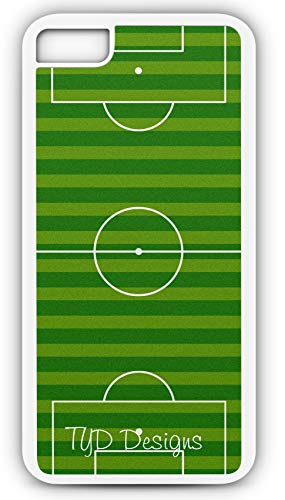 iPhone 7 Plus 7+ Case Soccer Field Customizable by TYD Designs in White Rubber