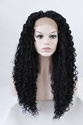 Lace Front Wigs for Black Women Long Curly Synthetic Wigs with Baby Heat Resistant Front Lace Wigs by Xing-Rui