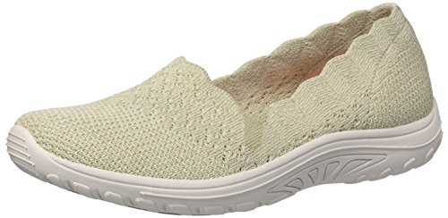 Slip Scalloped Women's M Fest US on Engineered Collar Skechers Natural Dame Skech 9 Reggae Loafer Knit Trail 4qvgwCw