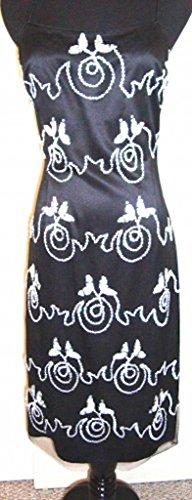 Studded Scroll (Star-Studded Scroll Bead Wedding Cocktail Dress (4))