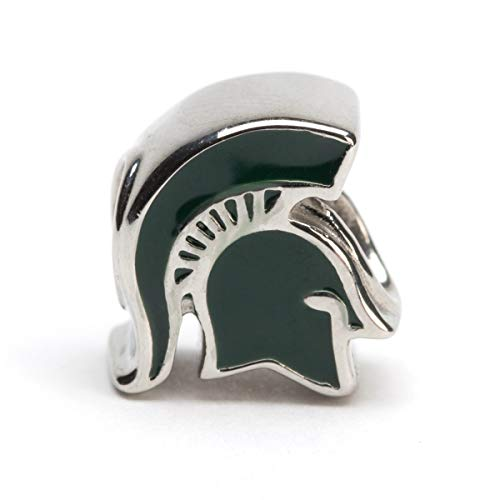 Michigan State Charm | Michigan State Spartan Charm | Officially Licensed Michigan State University Jewelry | Michigan State Charms | MSU Gifts | Stainless Steel