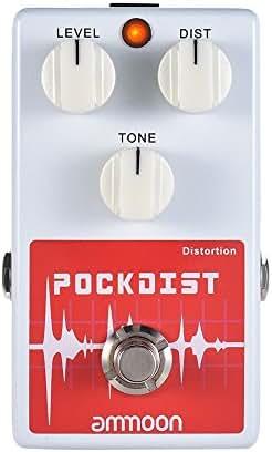 ammoon POCKDIST Classic Distortion Guitar Effect Pedal Full Metal Shell True Bypass