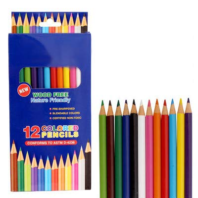 OIG Brands Colored Pencils for Adult Coloring Books Premium Color Pack of 12 Assorted