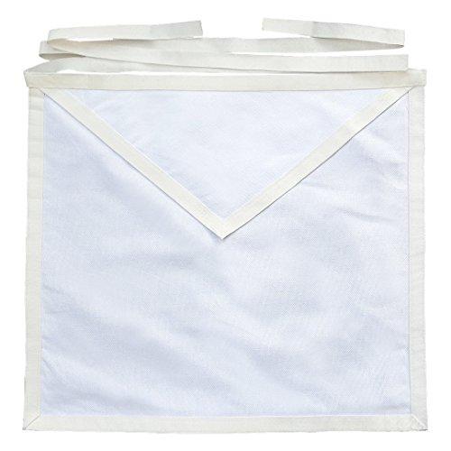 Masonic White Cotton Member Apron entered apprentice