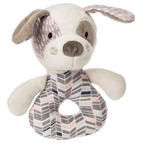 Mary Meyer Stuffed Animal Soft Ring Rattle, Decco Pup ()