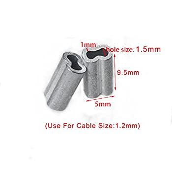 50pcs 3 64 Quot Aluminum Cable Crimps Sleeves Cable Ferrule