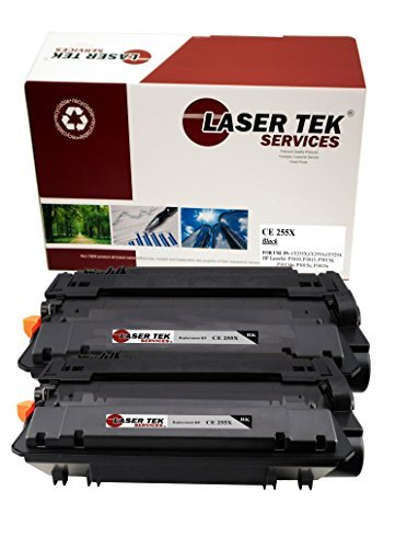 Laser Tek Services High Yield Toner Cartridge 2 Pack Compatible with HP LaserJet P3011 P3015 P3015d CE255X