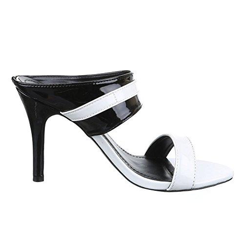 Ital-Design - Sandalias / Sandalias Mujer Blanco - Weiß Schwarz