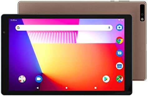10 inch Android Tablets 5G WiFi Phablet with 1.6Ghz Octa Core Processor,3GB RAM,32GB Storage,GMS Certified,Dual Camera,1920x1200 IPS HD Display,Support WiFi,FM,GPS (Brown)