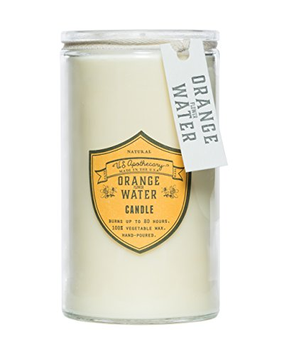 US Apothecary Orange Water Natural Wax Candle 16 - Oz 16 Apothecary Candle