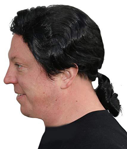 John Travolta Pulp Fiction Wig (Men's Black Ponytail Wig Fiction Costume)