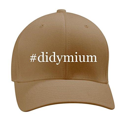 #didymium - A Nice Hashtag Men's Adult Baseball Hat Cap, Khaki, Large/X-Large