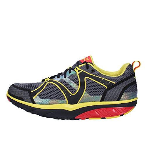 MBT Sneakers Herren 42 Grau Gelb Textil