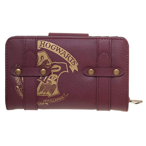 Harry Potter Girls Wallet Maroon Hogwarts Crest Harry Potter Satchel Wallet