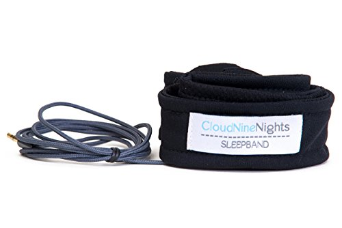 CloudNineNights Ultra-Thin Sleep Band, Super Slim Sleep Headphones - Most Comfortable Headphones for Sleeping - Perfect for Air Travel, Relaxation, Meditation & Insomnia – Black