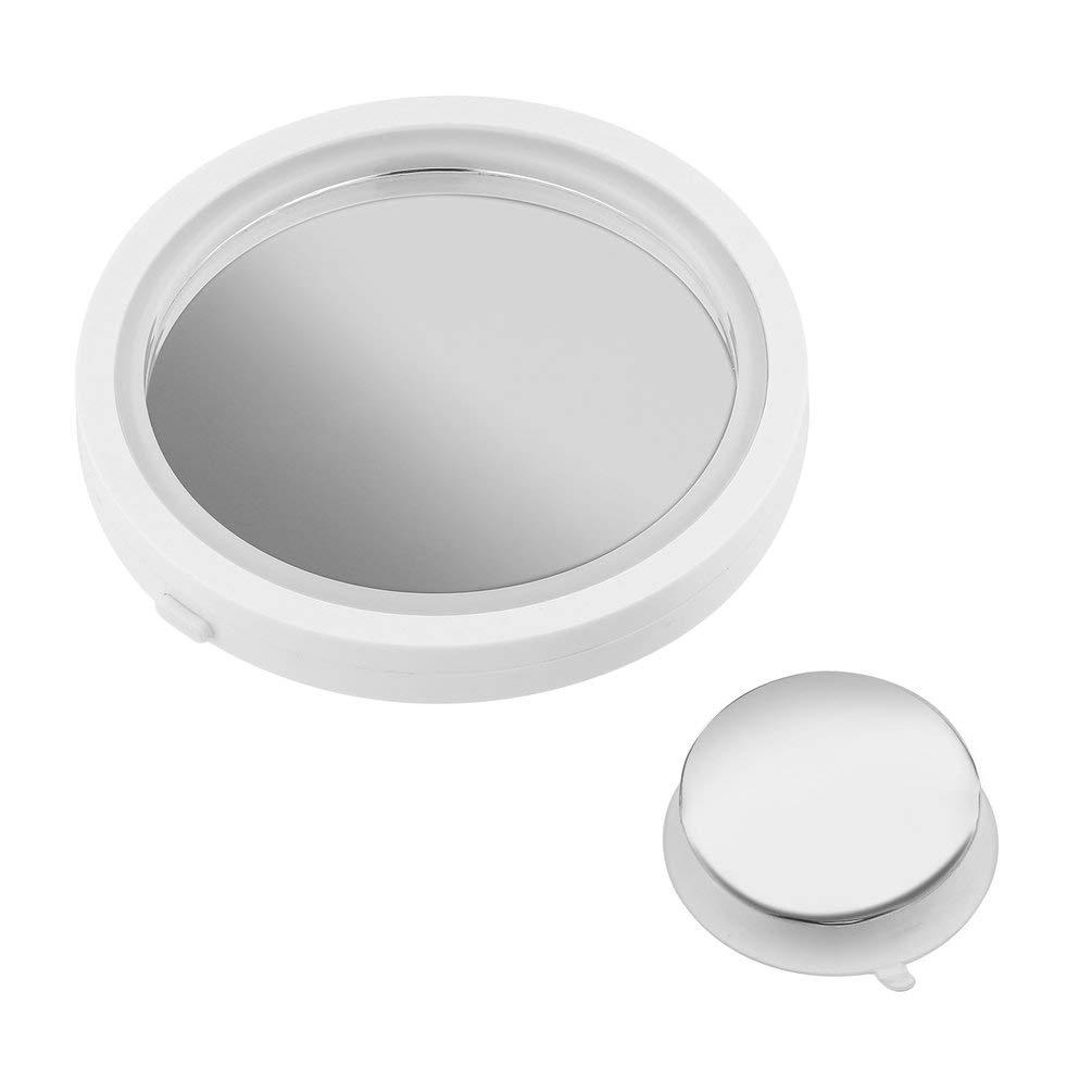 Espejo de Maquillaje de rotaci/ón de 360 Grados con luz Brillante LED de Aumento 8X Blanco