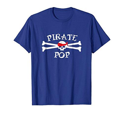 Mens Pirate Pop Shirt, Funny Cute Skull _ Crossbones Gift 3XL Royal (Simple Male Pirate Costume)