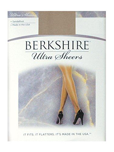 Sheer Berkshire Pantyhose (Berkshire Women's Ultra Sheer Non-Control Top Pantyhose - Sandalfoot 4408, Nude, 2)