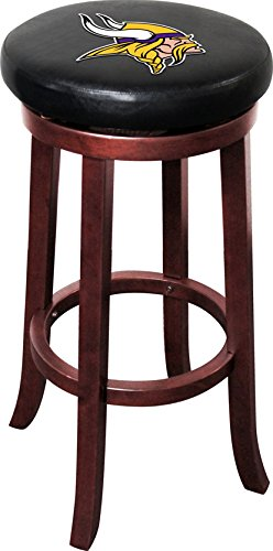 Imperial Officially Licensed NFL Furniture: Wooden Bar Stool, Minnesota Vikings
