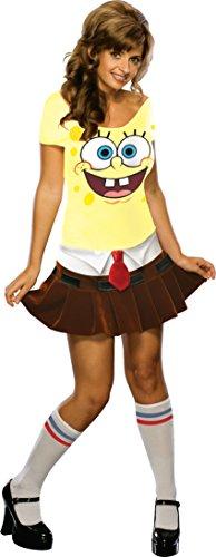 Secret Wishes Women's SpongeBabe Costume, Yellow, Small ()