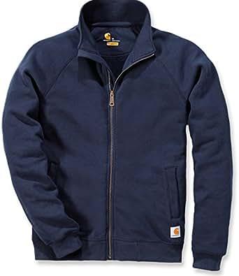 Carhartt Men's Midweight Mock Neck Zip Front Workwear Sweatshirt New Navy Small