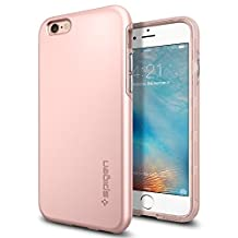 Spigen Thin Fit Hybrid iPhone 6S Case / iPhone 6 Case with Premium SF Coated Non Slip Matte Surface Thin Case for Apple iPhone 6S / iPhone 6 - Rose Gold