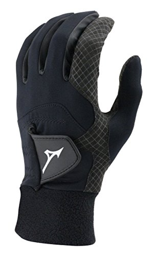 Mizuno 2018 ThermaGrip Men's Golf Glove, Pair, Black, Medium/Large