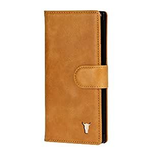 TORRO Genuine Leather Wallet Case Compatible with Samsung Galaxy Note 10+ Plus (Tan)