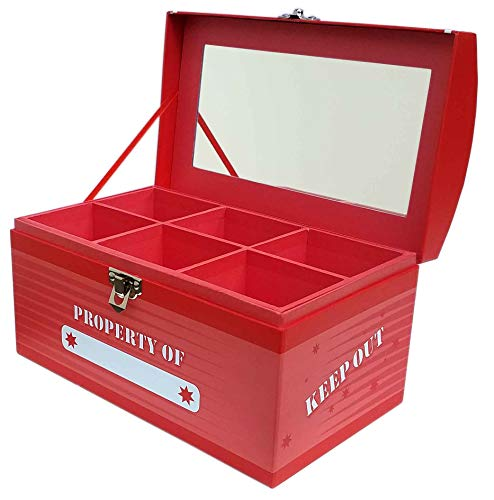 Treasure Chest Box Jumbo - Laser Red (Treasure Box Child)