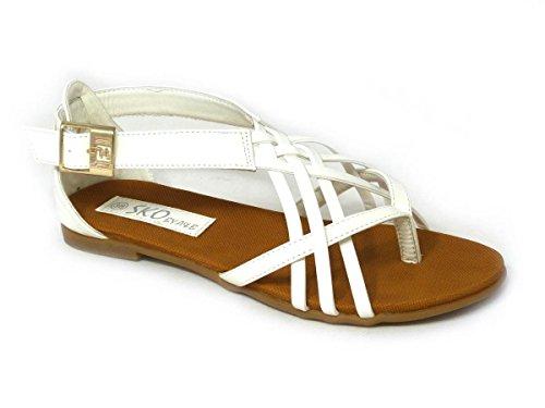 femme 13001 White SKO'S Sandales pour qECwOCHx
