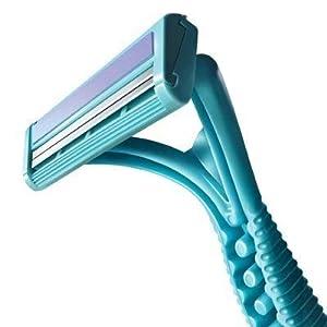 VTC INFRASTRUCTURE 12 Pcs/Set Disposable Shaving Razor Men Women Travel Shaver Razor Blades Face Care Underarm Body Hair Removal(blue and pink color)
