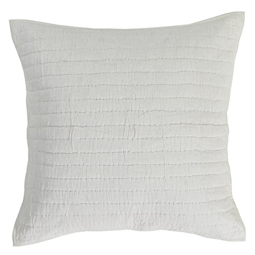 VHC Brands Rochelle Crème Quilted Euro Sham 26x26 (Quilted Shams Euro Pillow 3)