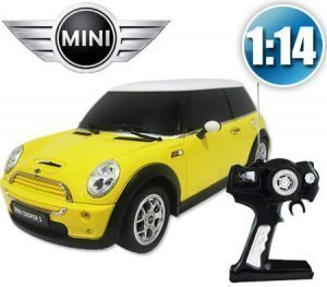 1:14 Mini Cooper S toy car RC Remote Control Car RC RTR Official Liciense Model (Color: Yellow)