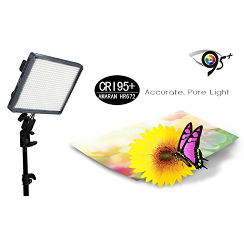 Aputure Amaran Portable 672W CRI95 + 672 LED Video Light with 2.4G FSK Wireless Remote and 2 Filters for Camera Video Camcorder DV Lamp by Aputure