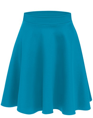 Turquoise Skirts for Women High Waisted Flare Skirt Turquoise a Line Skirt Skater Skirt Turquoise Skirt (Size X-Large (US 14-16), ()
