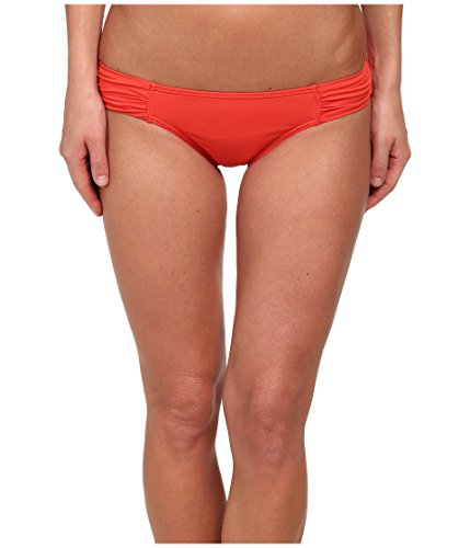 Tommy Bahama Women's Pearl Solids Tab Side Hipster Bikini Bottom Hot Spice L