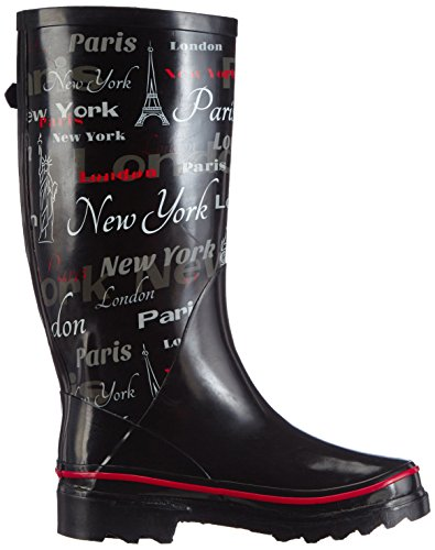 Beck Women's Schwarz Schwarz Boots Black 02 Wellington Downtown rOw5SxYr